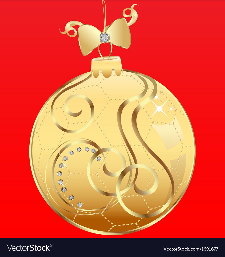 Ball Christmas and ribbon