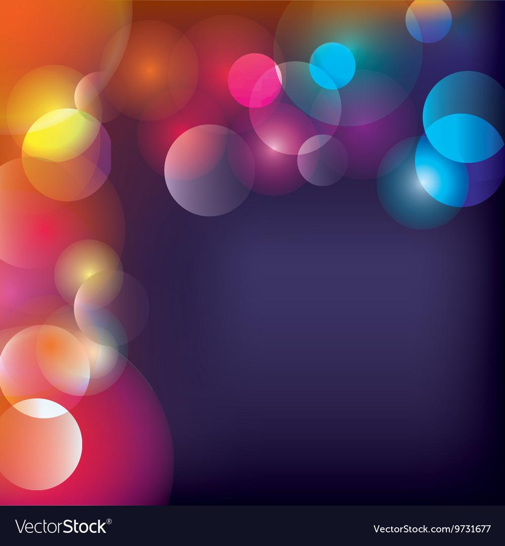 Blurred Lights Background Wallpaper Design
