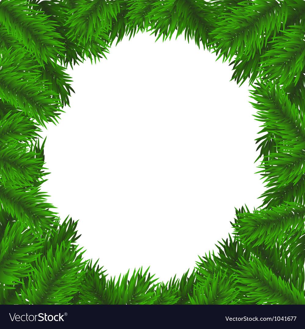 Christmas tree frame Royalty Free Vector Image