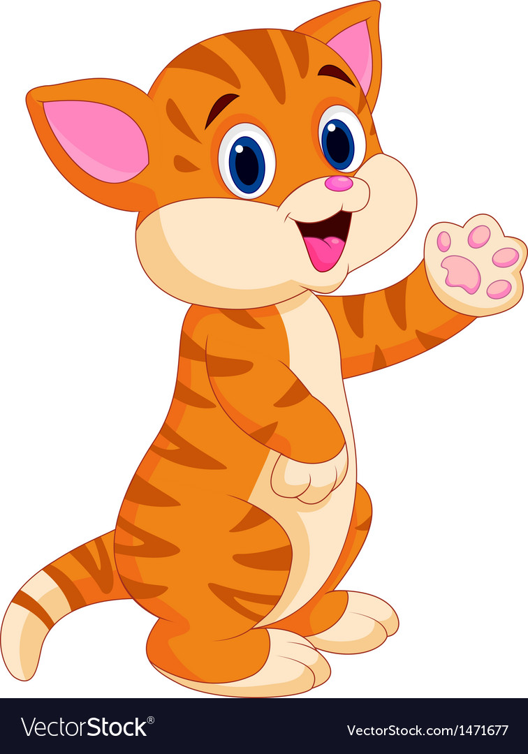 cute baby cat cartoon royalty free vector image