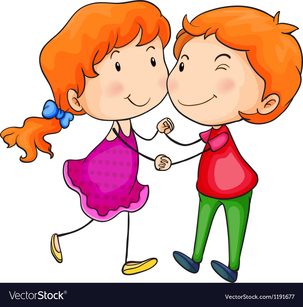 Lovers dancing vector image
