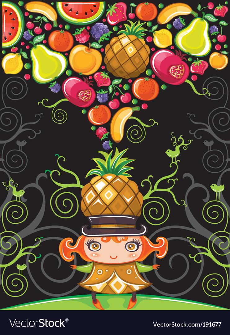 Pineapple girl fruity