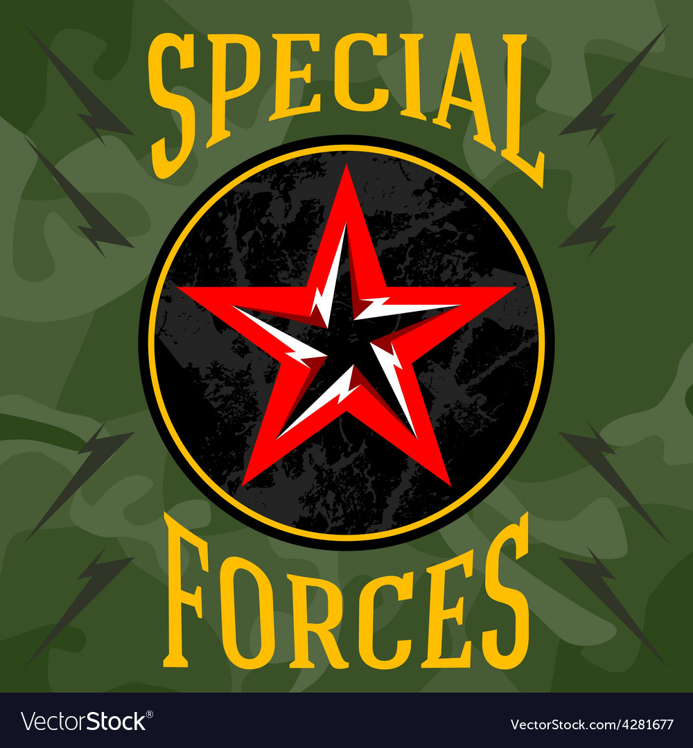 Special forces military patches with forest