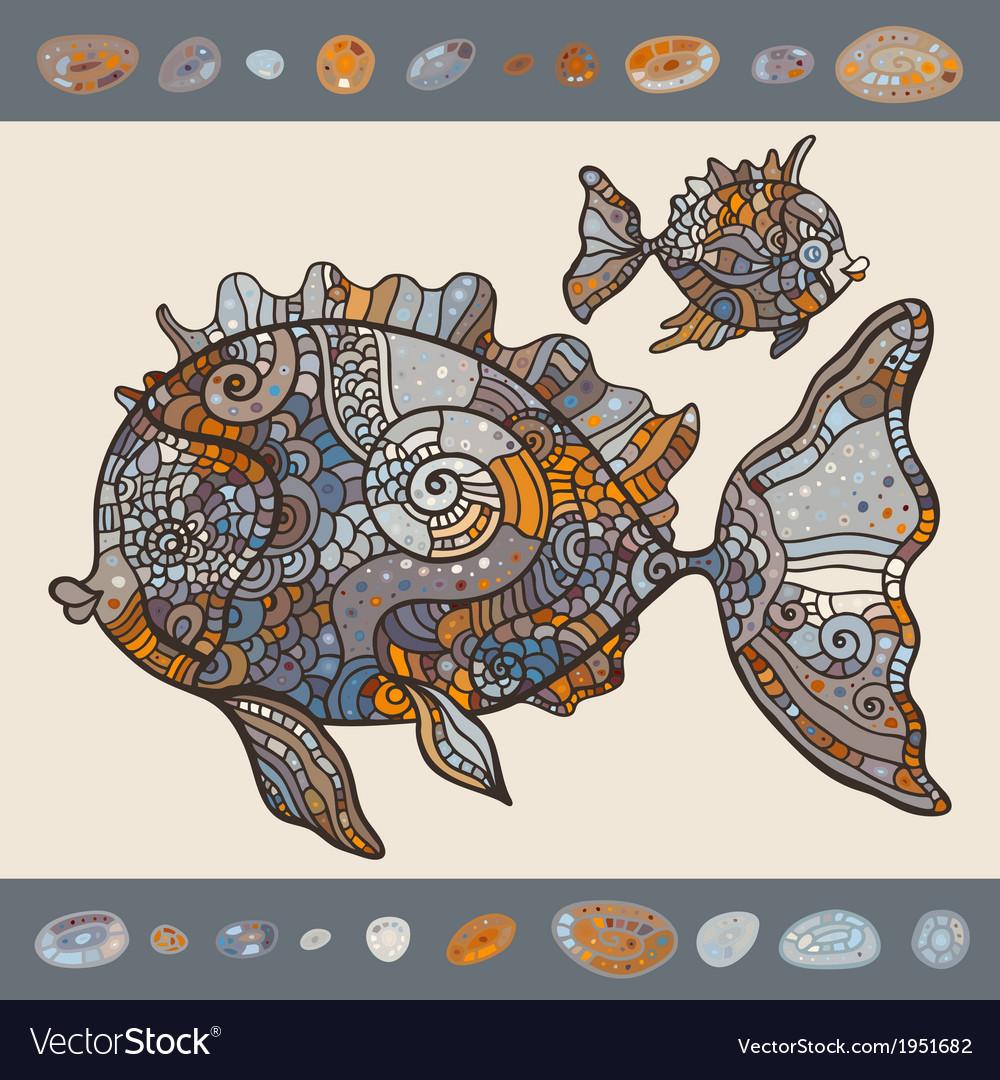 Abstract Cartoon Sea Fish