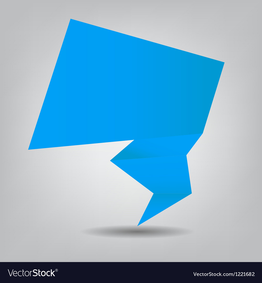 Abstract origami speech bubble background