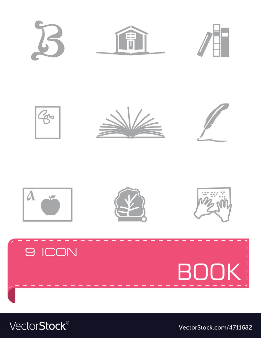 Book icon set on