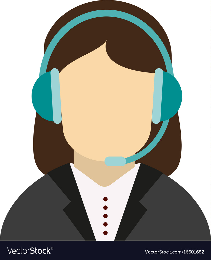 c54236c345 Call center customer service assistant avatar icon vector image