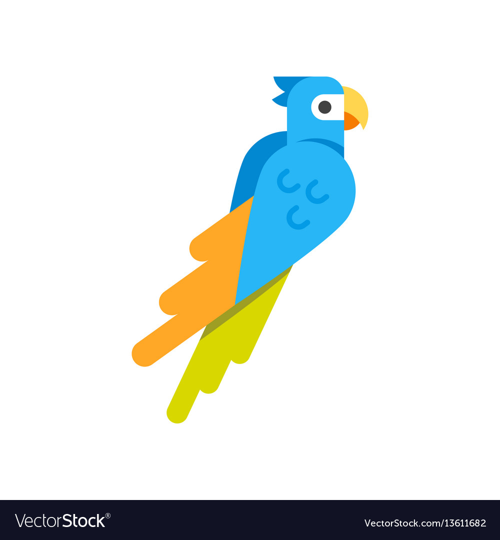 Flat style of parrot