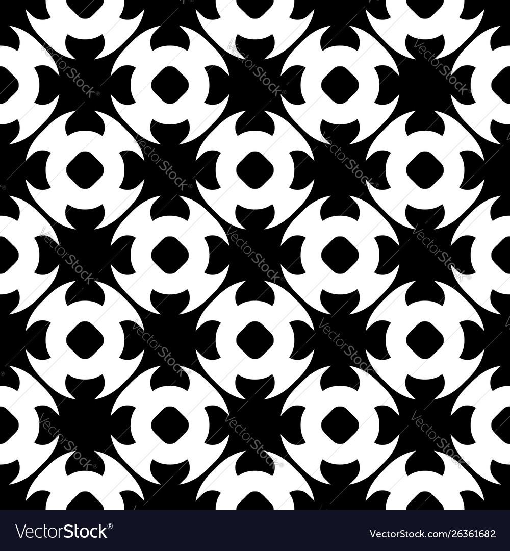 Seamless pattern black white floral texture