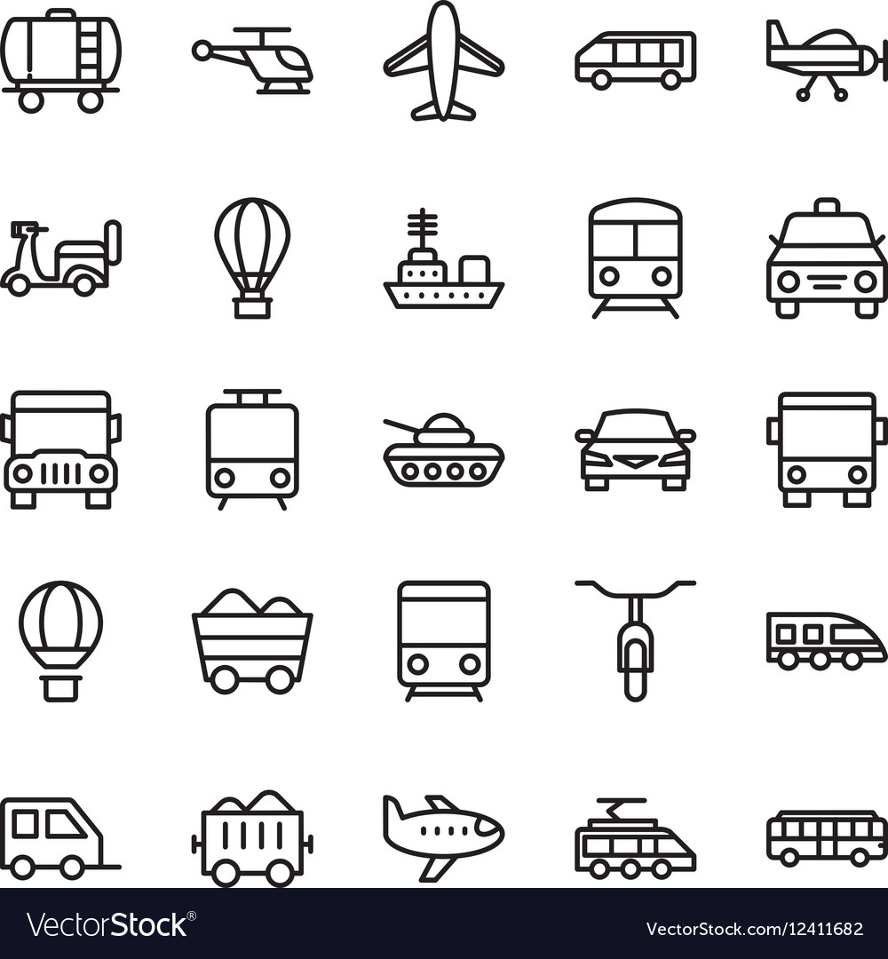 Transport Colored Icons 1