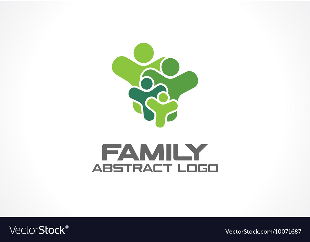 Abstract green logo for business company People