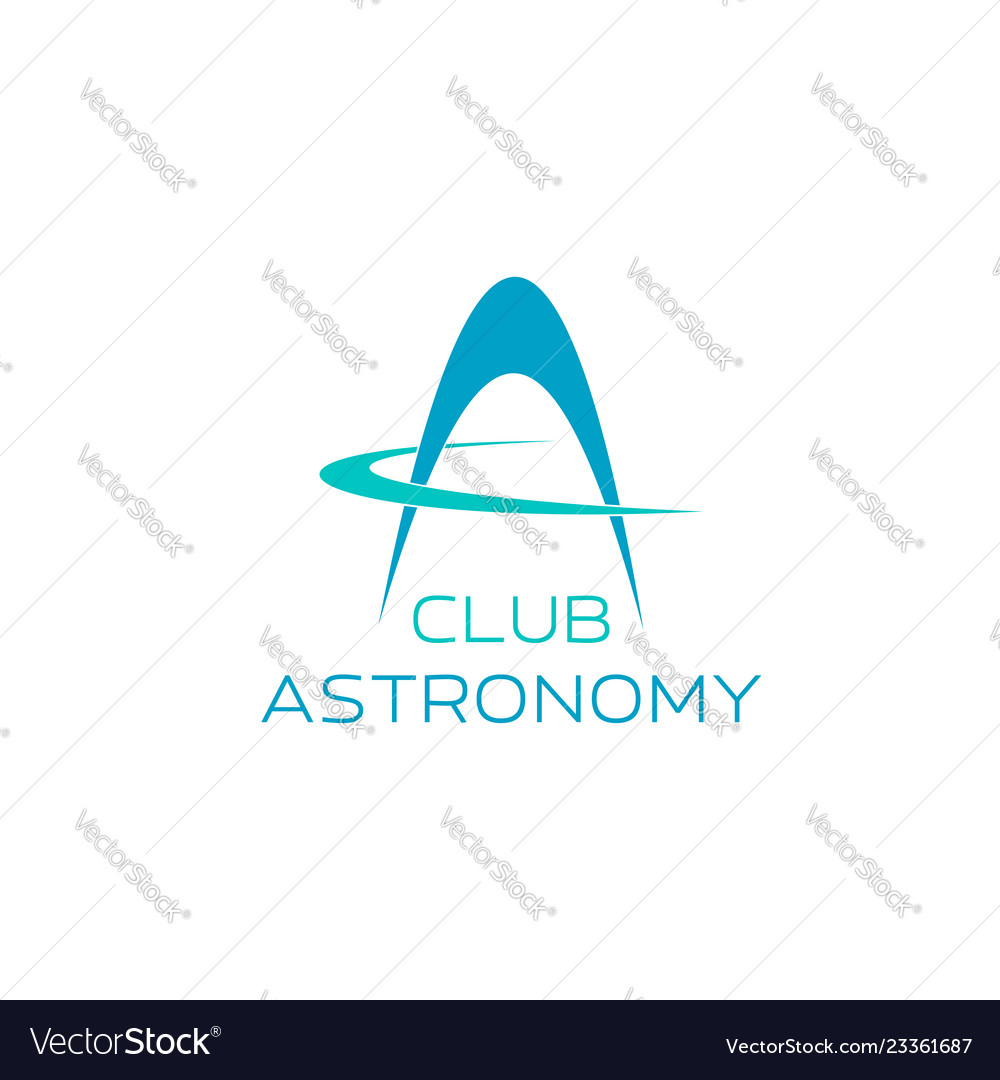Astronomy symbol for science club emblem design
