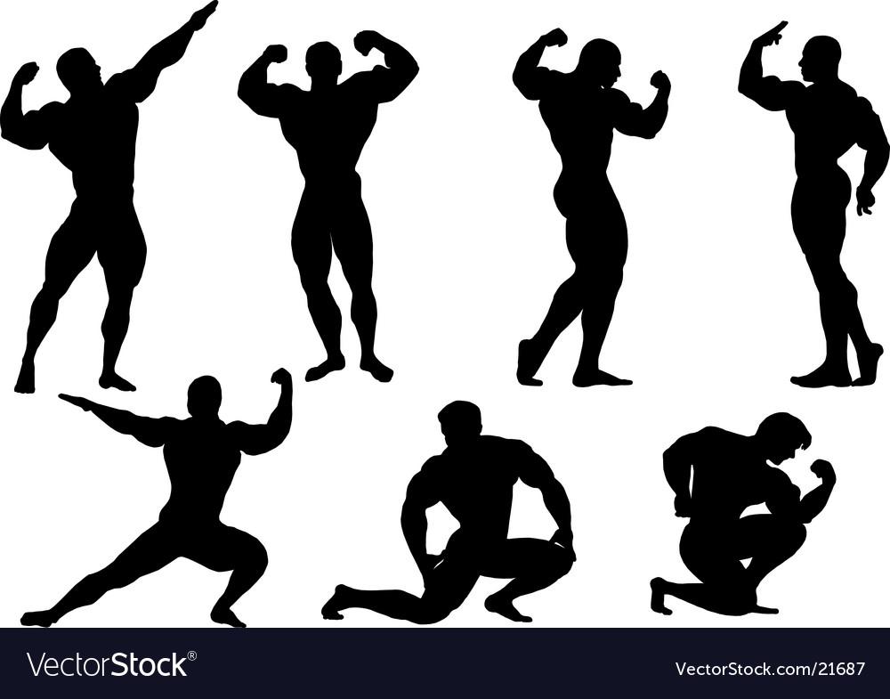 Bodybuilding men vector image