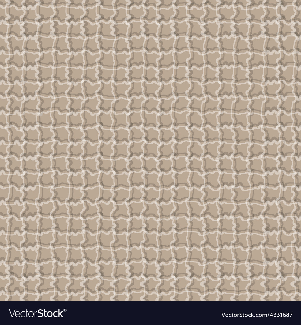Checkered seamless brown textured background vector image