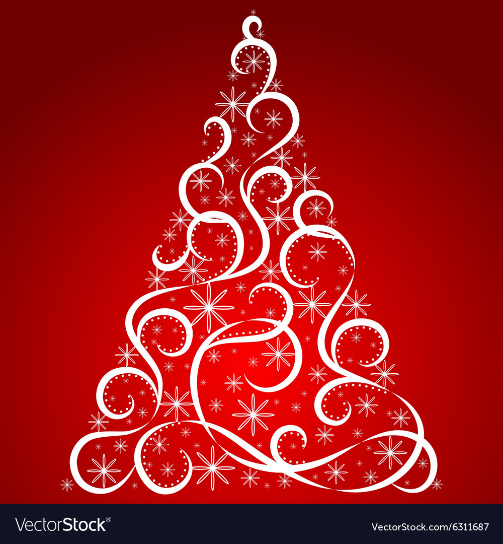 Christmas Card Xmas Tree Royalty Free Vector Image