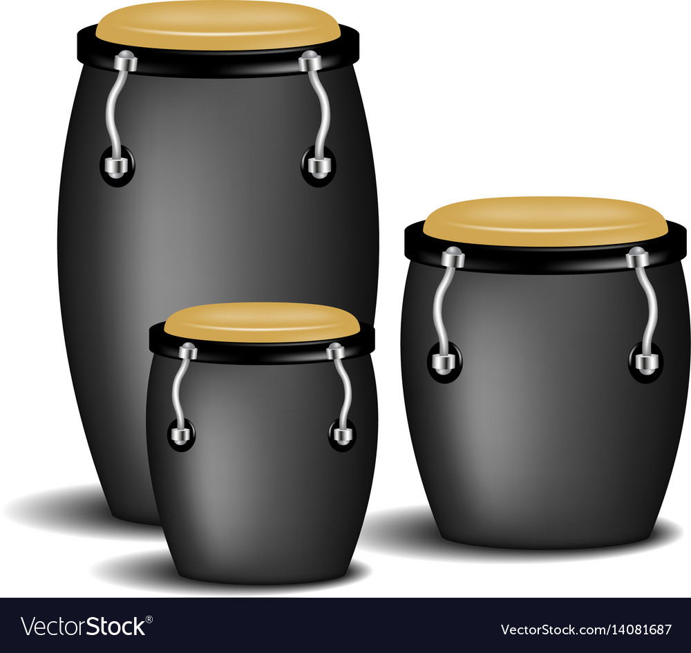 Congas band in black design with shadow