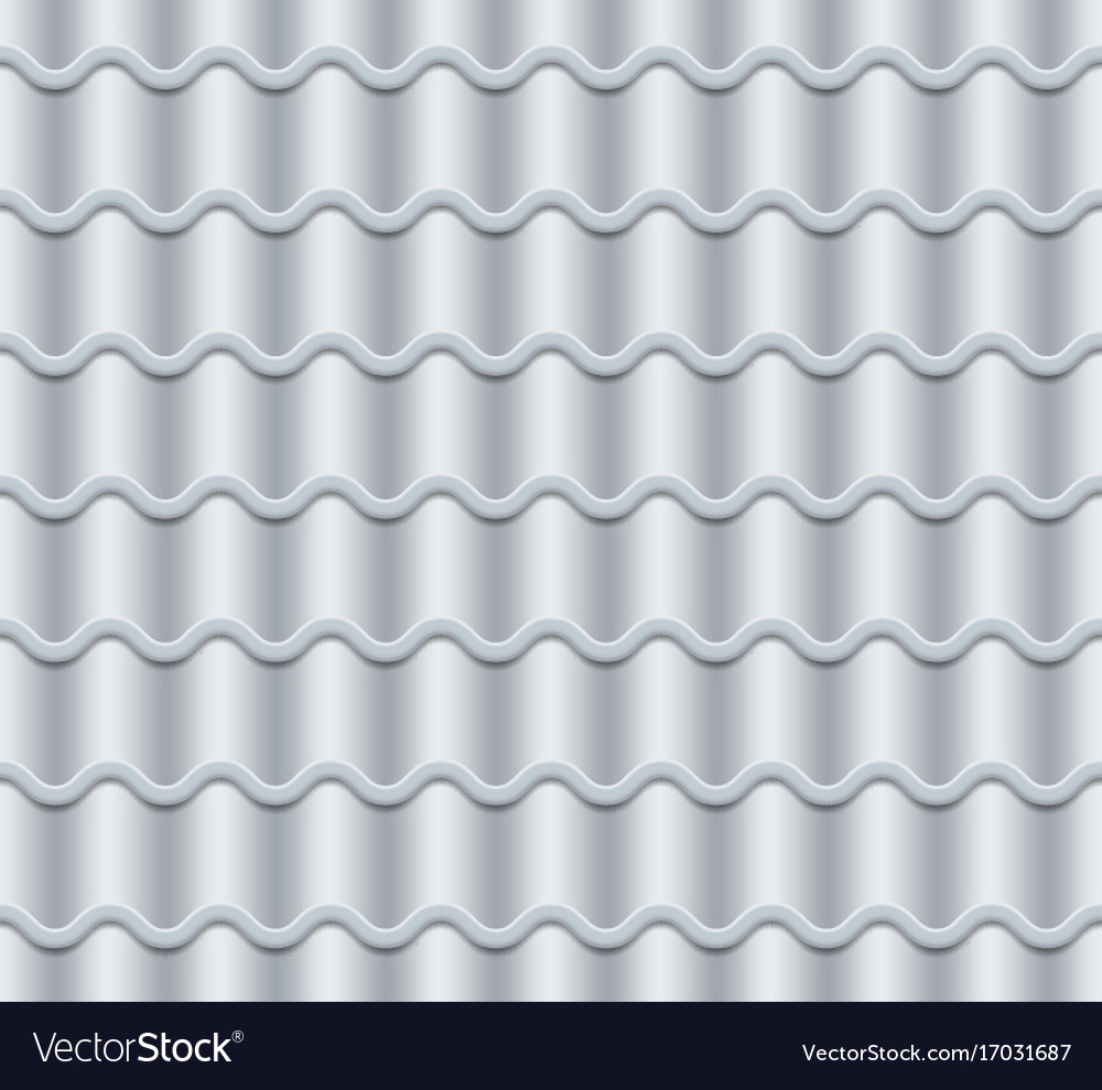 Grey corrugated tile seamless pattern vector image