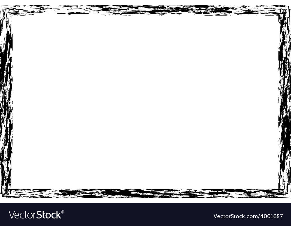 Grunge distressed rough frame or border Royalty Free Vector