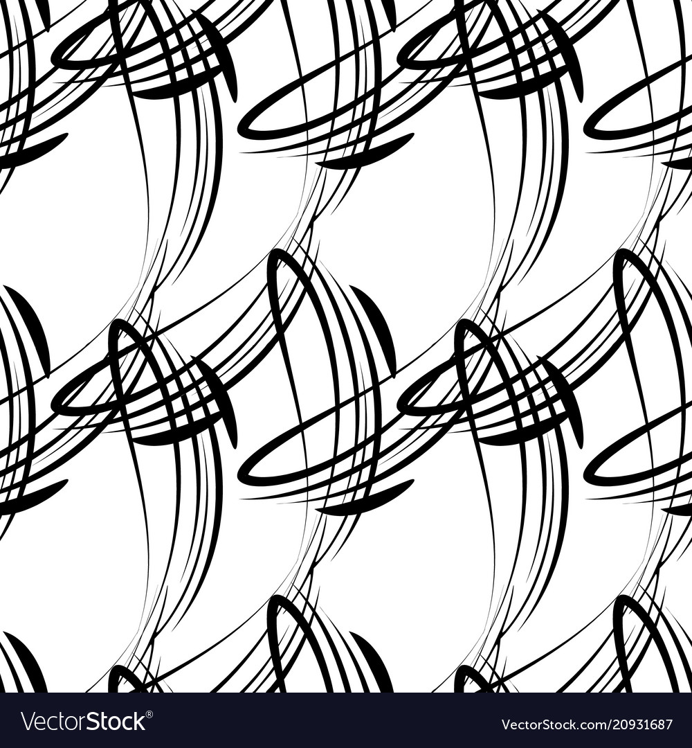 Monochrome pattern from black lines for