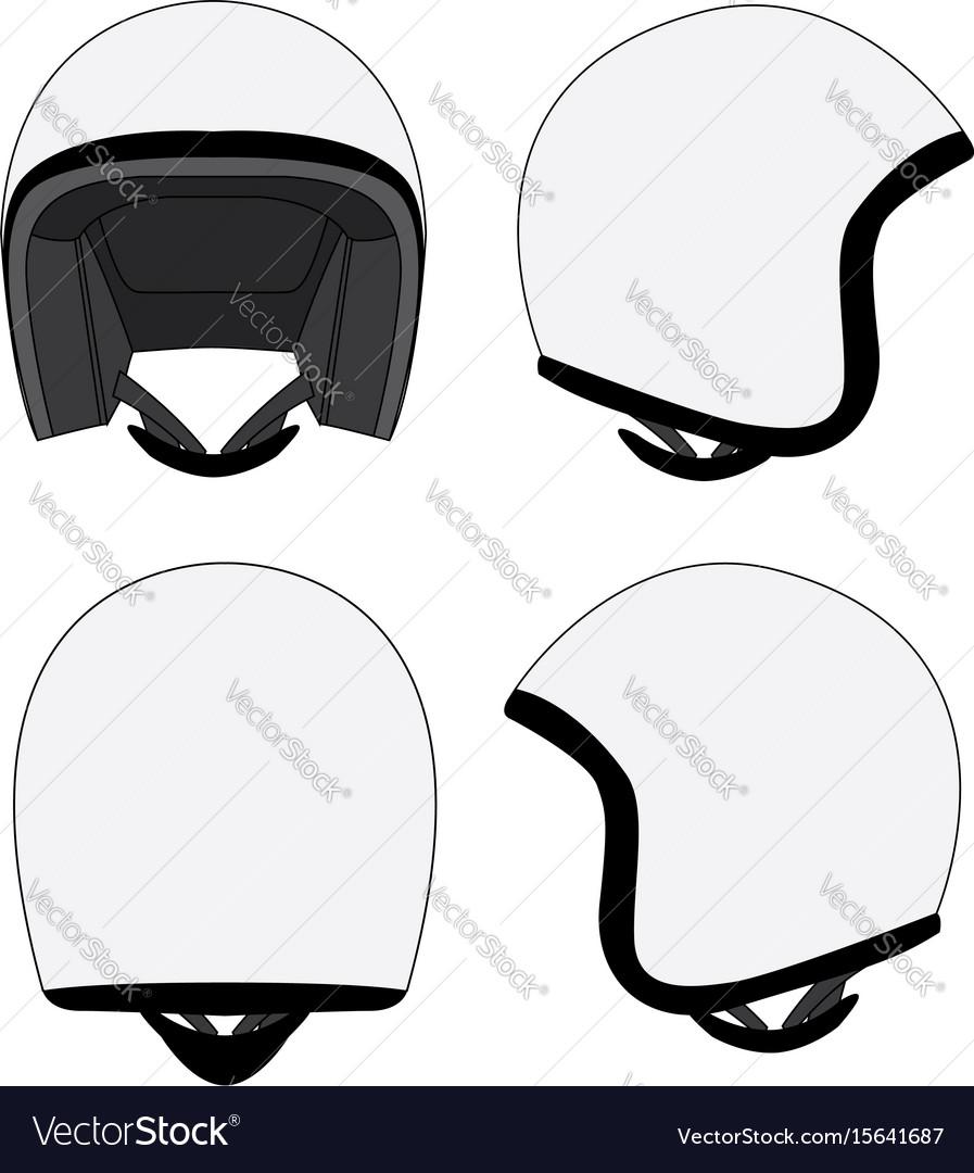 motorcycle helmet template royalty free vector image