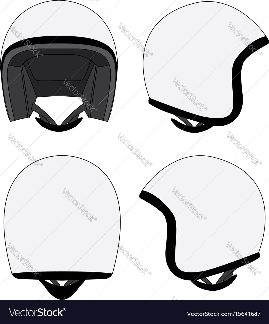 Motorcycle Helmet Template Vector Image