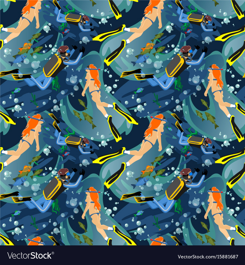 Water extreme sports seamless patterns design