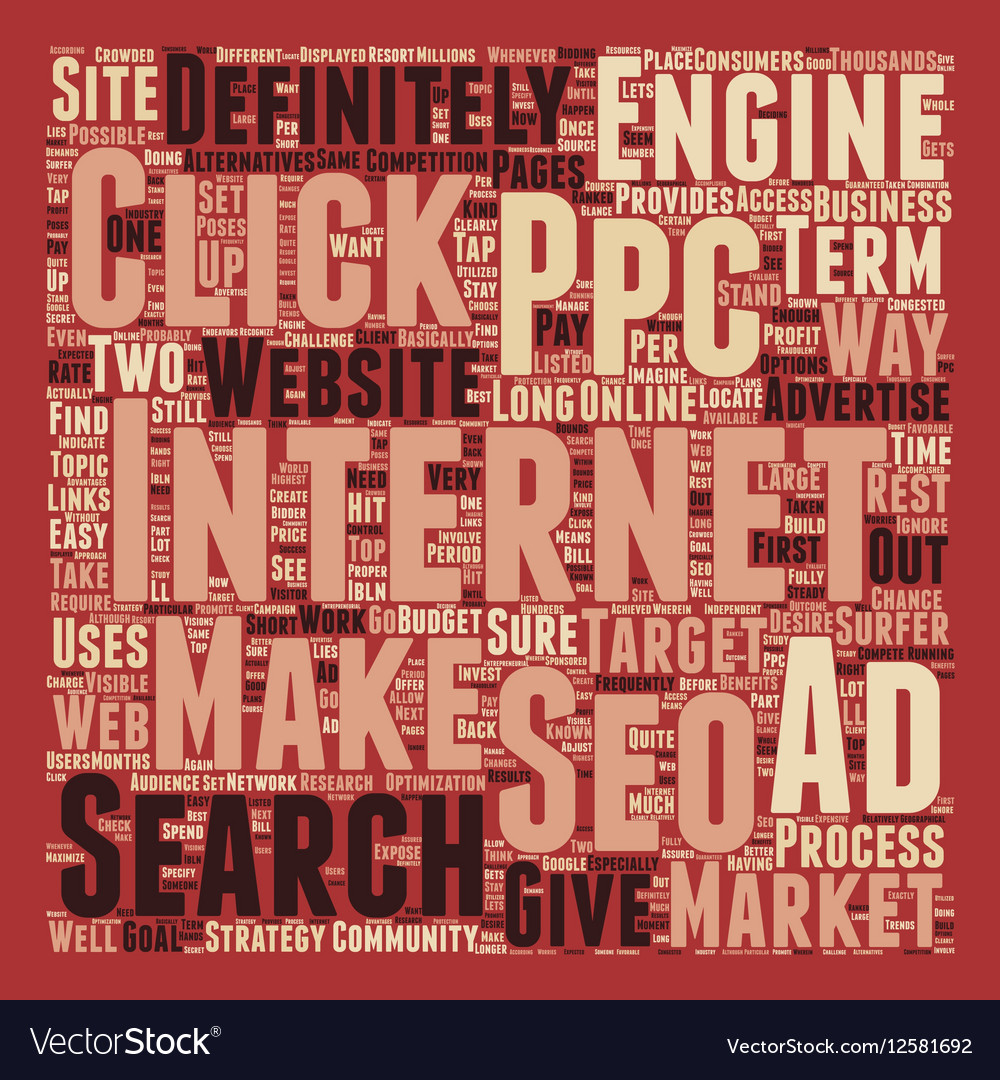 JP PPC and SEO text background wordcloud concept