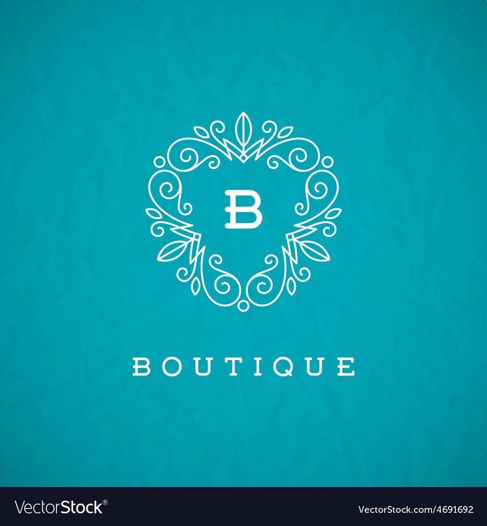 Monogram flourishes logo
