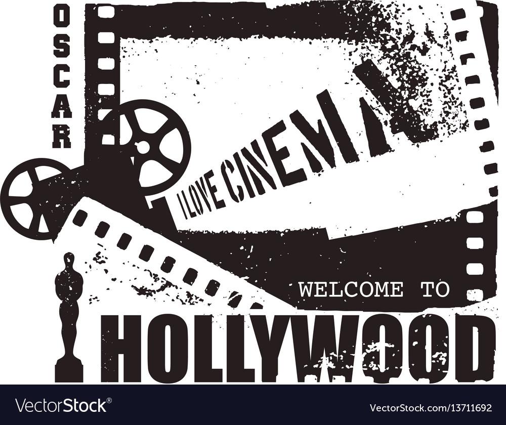 Template grunge cinema poster