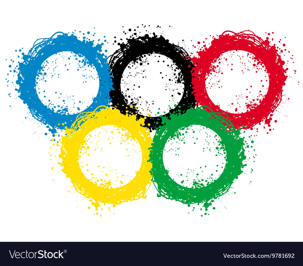 With ink blots olympic rings