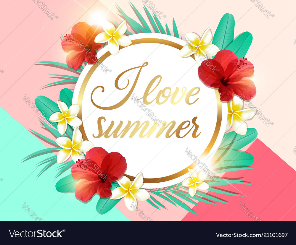 Abstract summer tropical floral background
