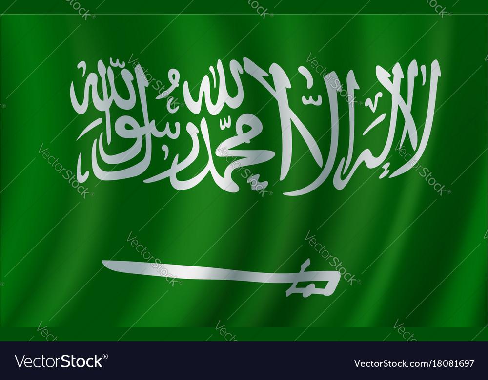 Flag of saudi arabia 3d design vector image