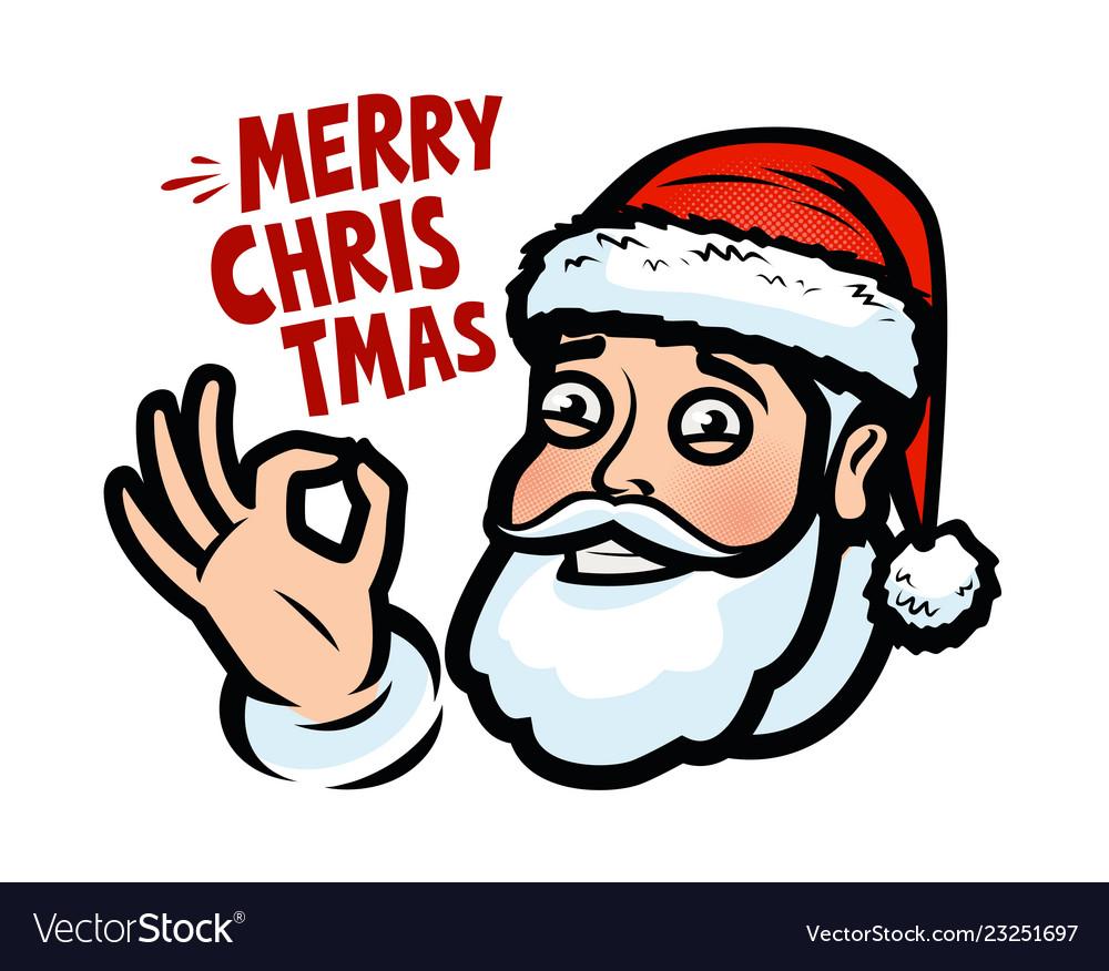 Funny santa claus christmas greeting card banner