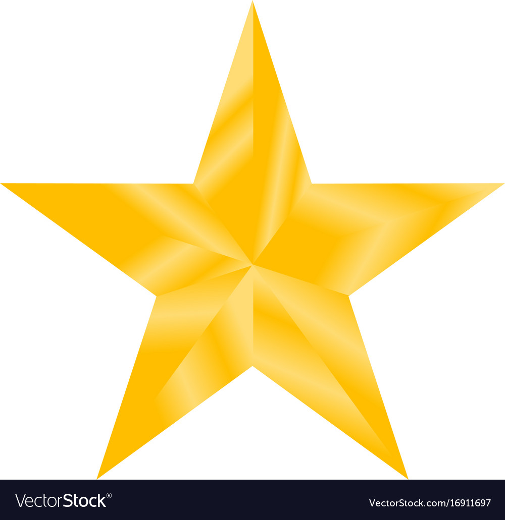 927b1913e8398 Gold star sign gold star on white background