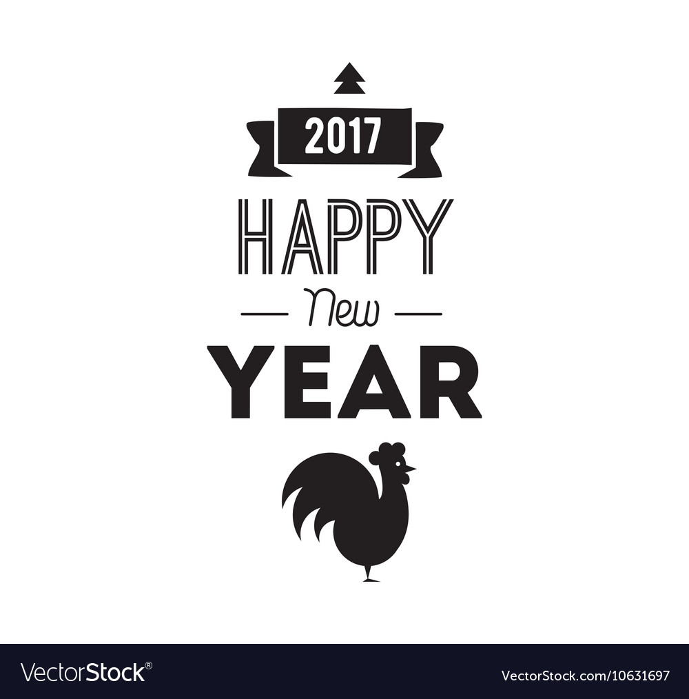 Happy New Year typographic design vector image