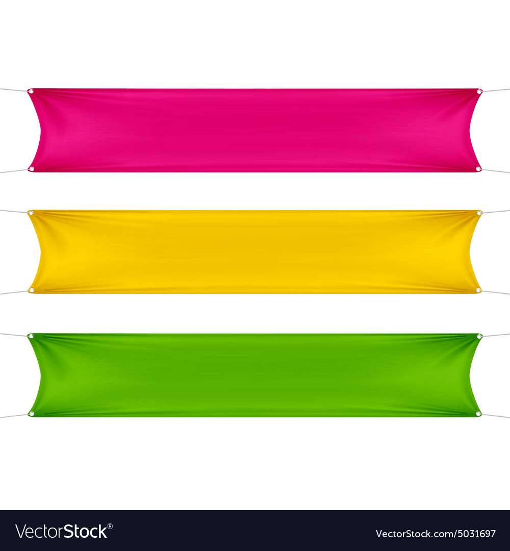 Red Yellow and Green Blank Empty Banners vector image