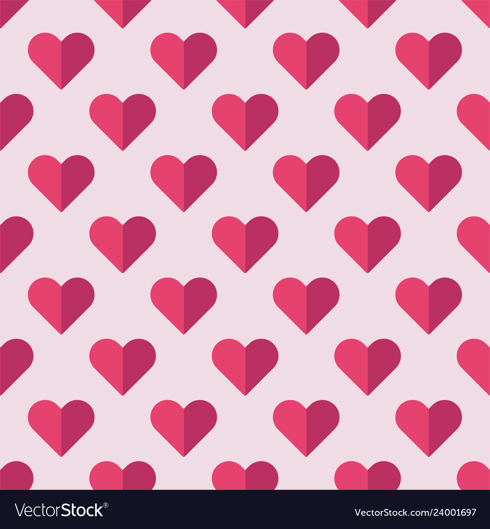 Seamless heart pattern ideal for valentines day