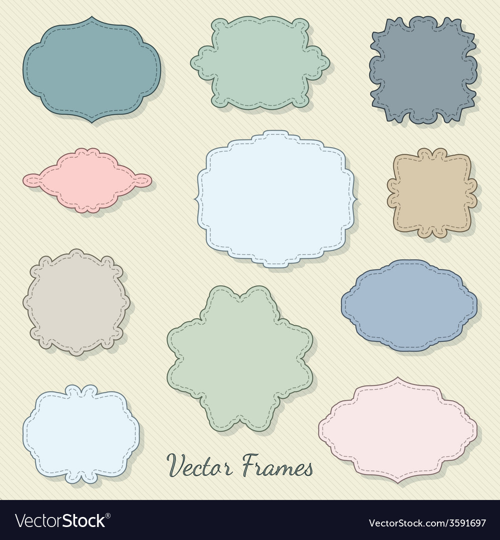 set of decorative labels royalty free vector image