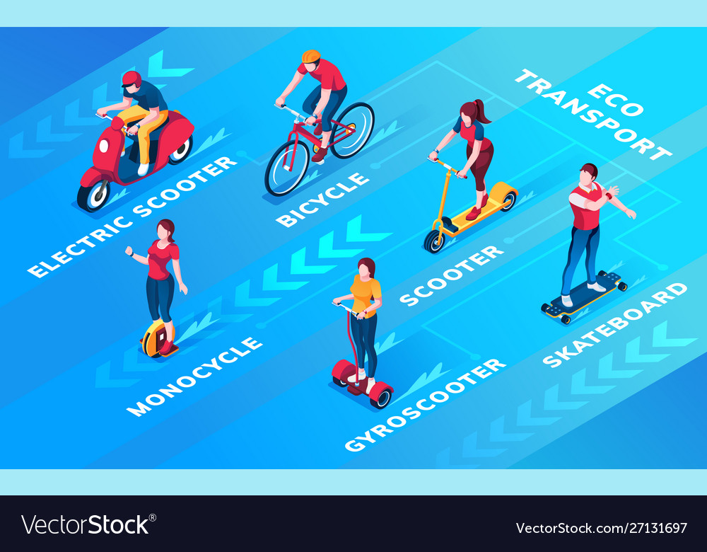 Set people on ecological personal transport
