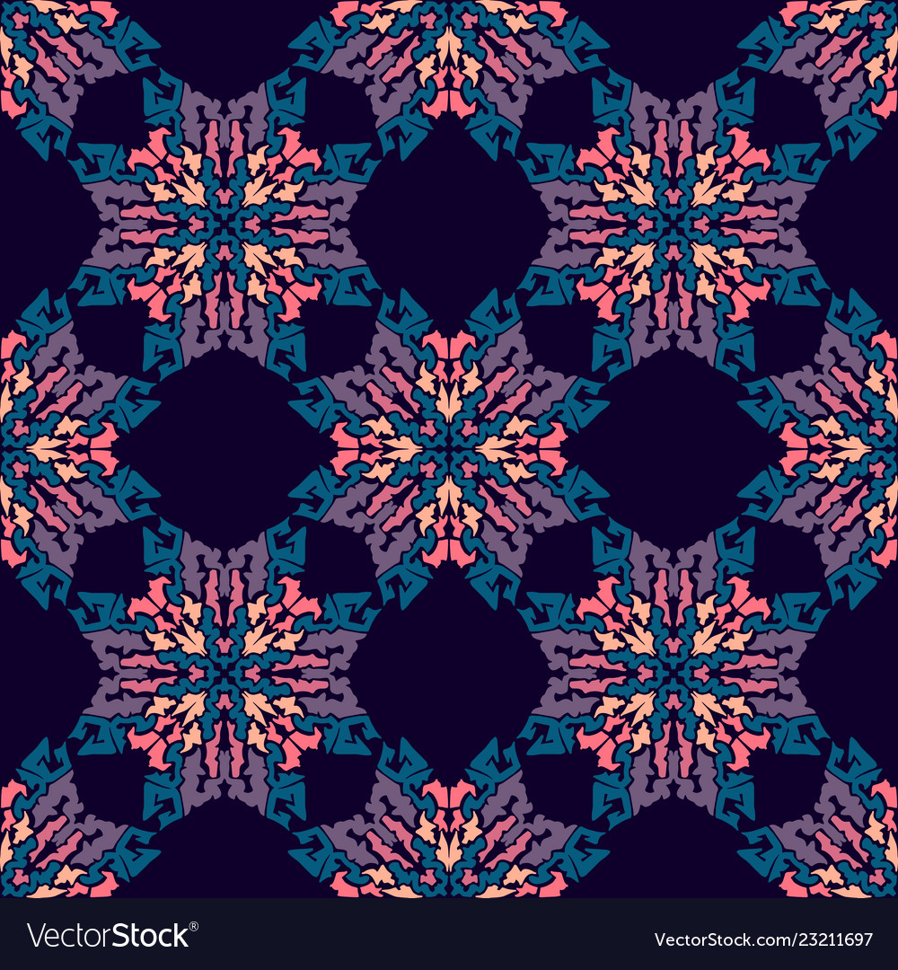 Simple floral seamless pattern background