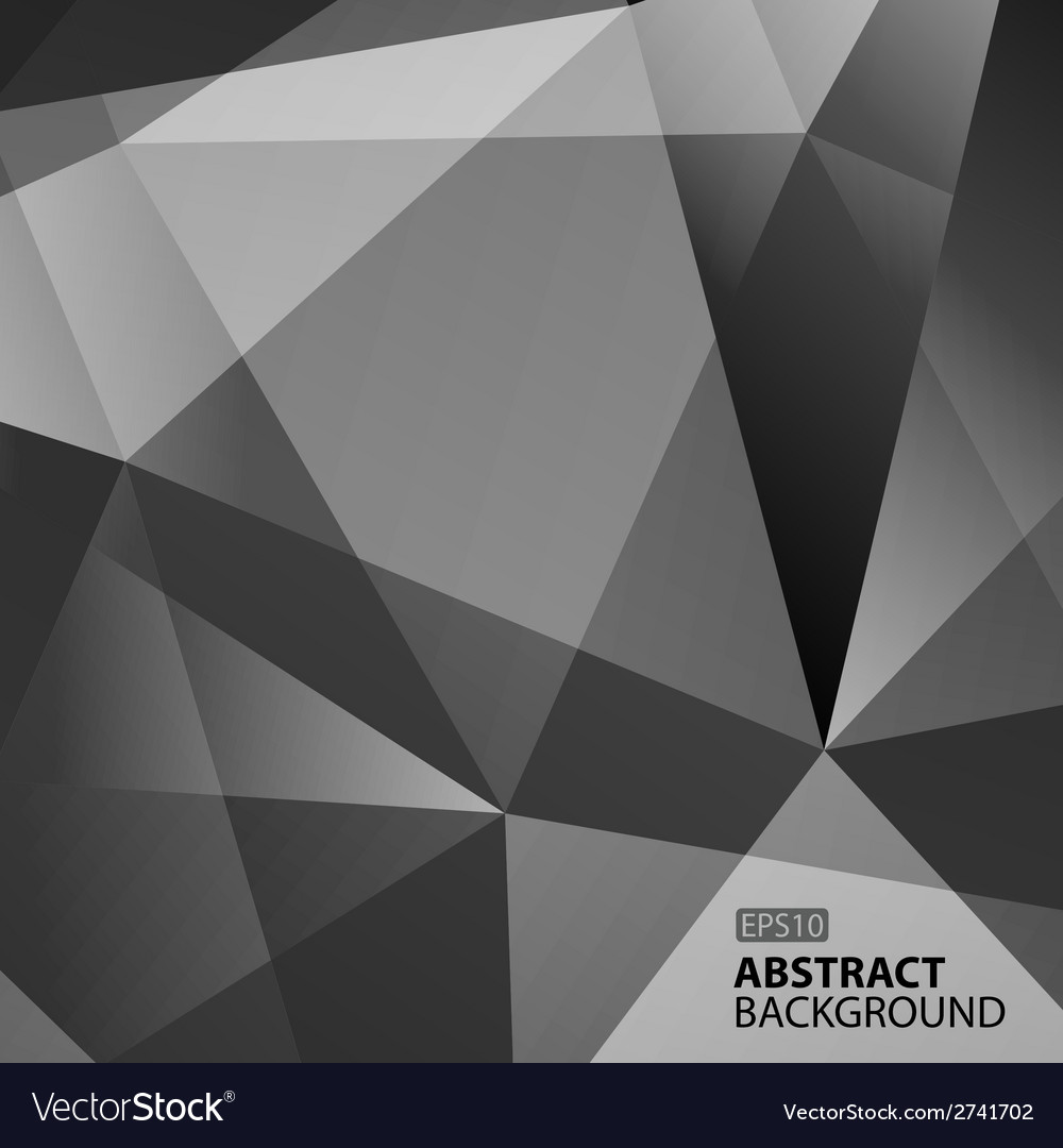 Abstract Dark Grey Geometric Background vector image