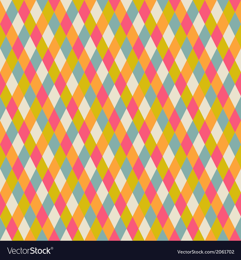 Abstract seamless repeat pattern with rhombs vector image