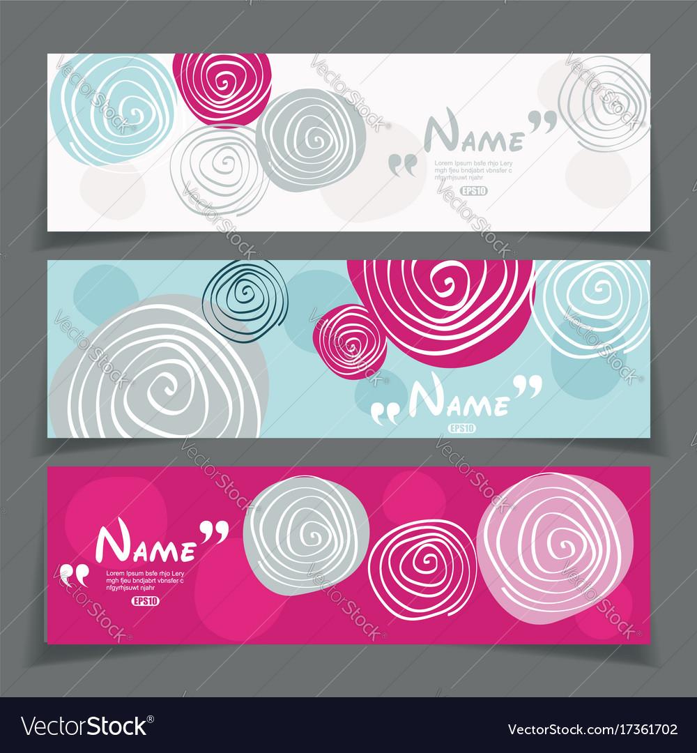 Banner set with flower design