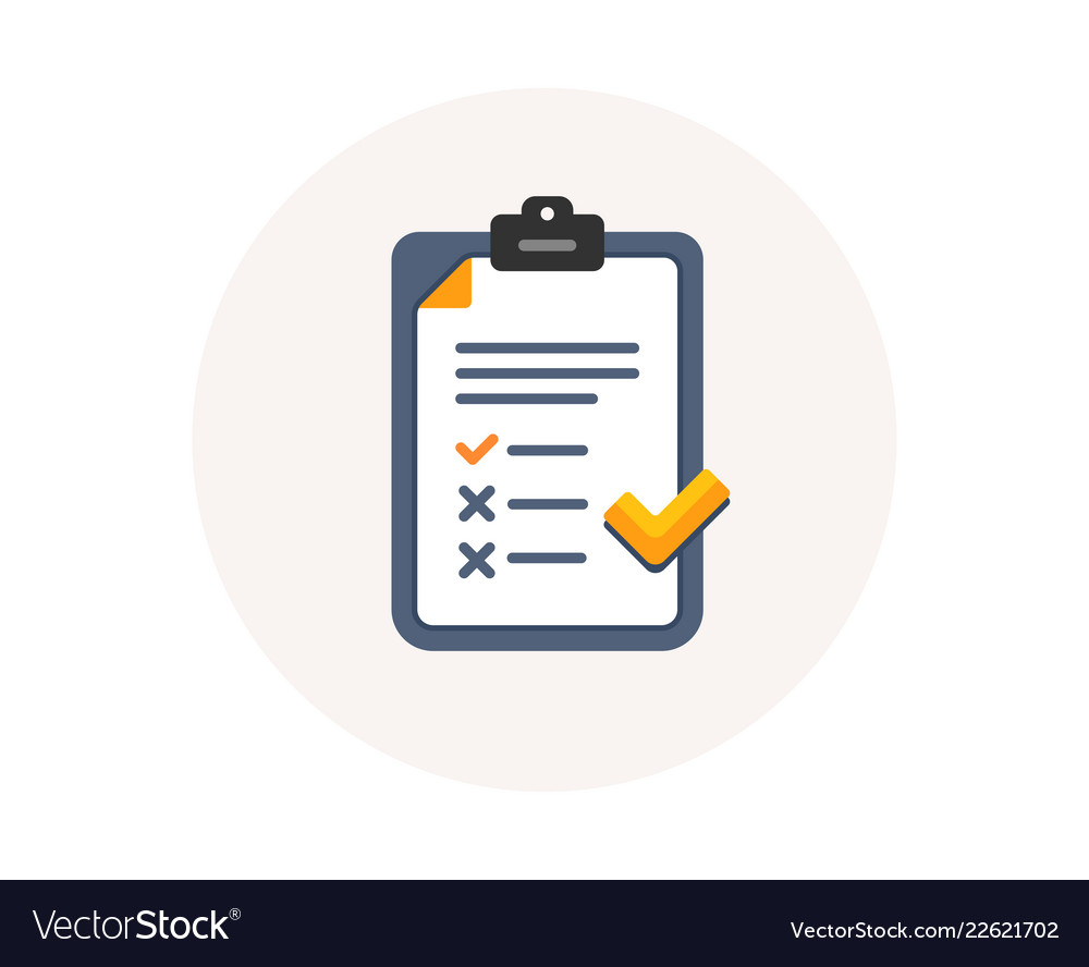 Clipboard with checklist icon agreement document