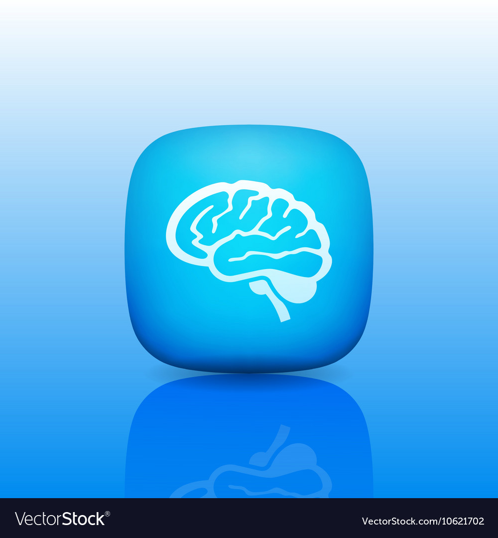 Detailed Human Brain Line Icon