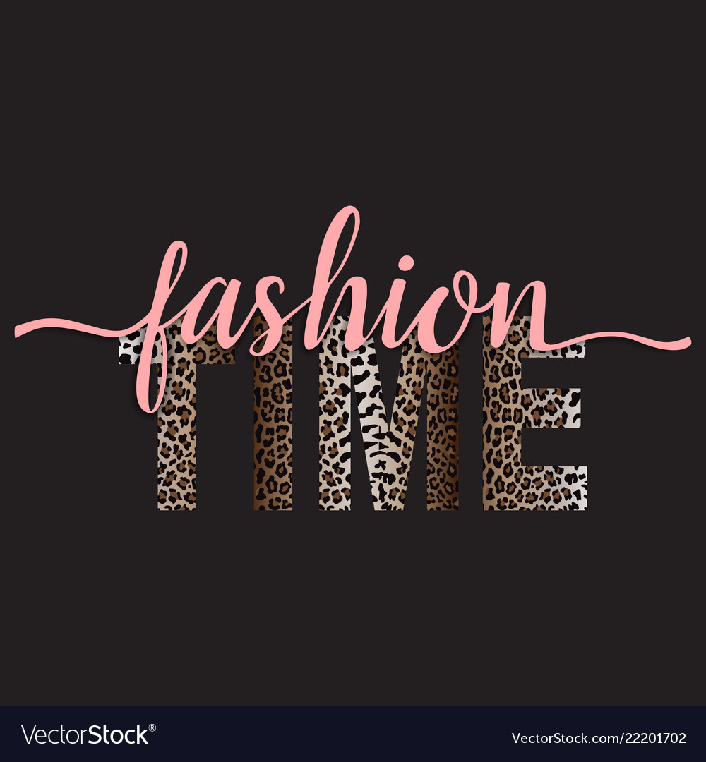 Fashion time t-shirt fashion print with leopard