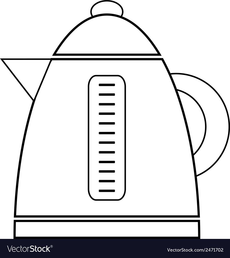 картинка электрический чайник раскраска подарок