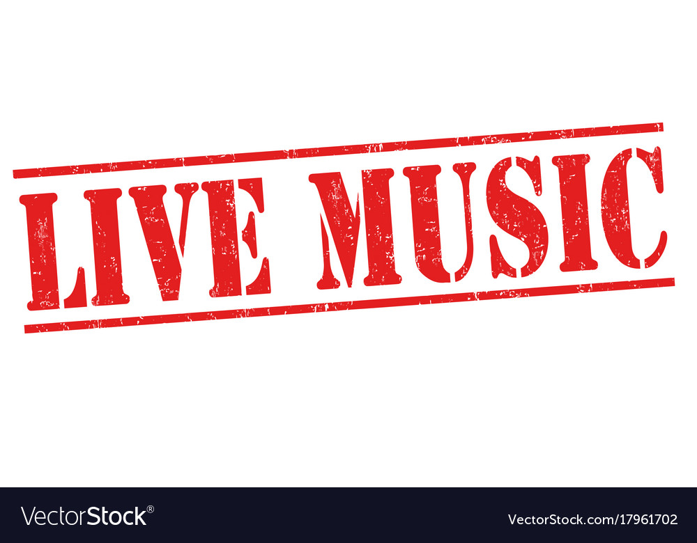 Live Music Sign Or Stamp Royalty Free Vector Image