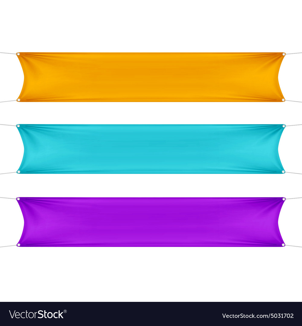 Orange Turquoise and Purple Blank Empty Banners vector image