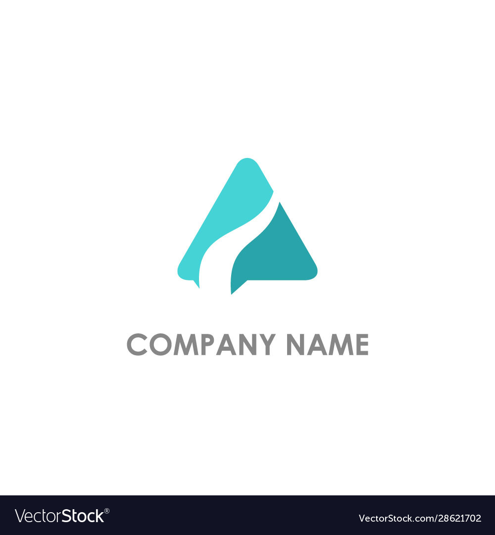 Triangle abstract wave logo